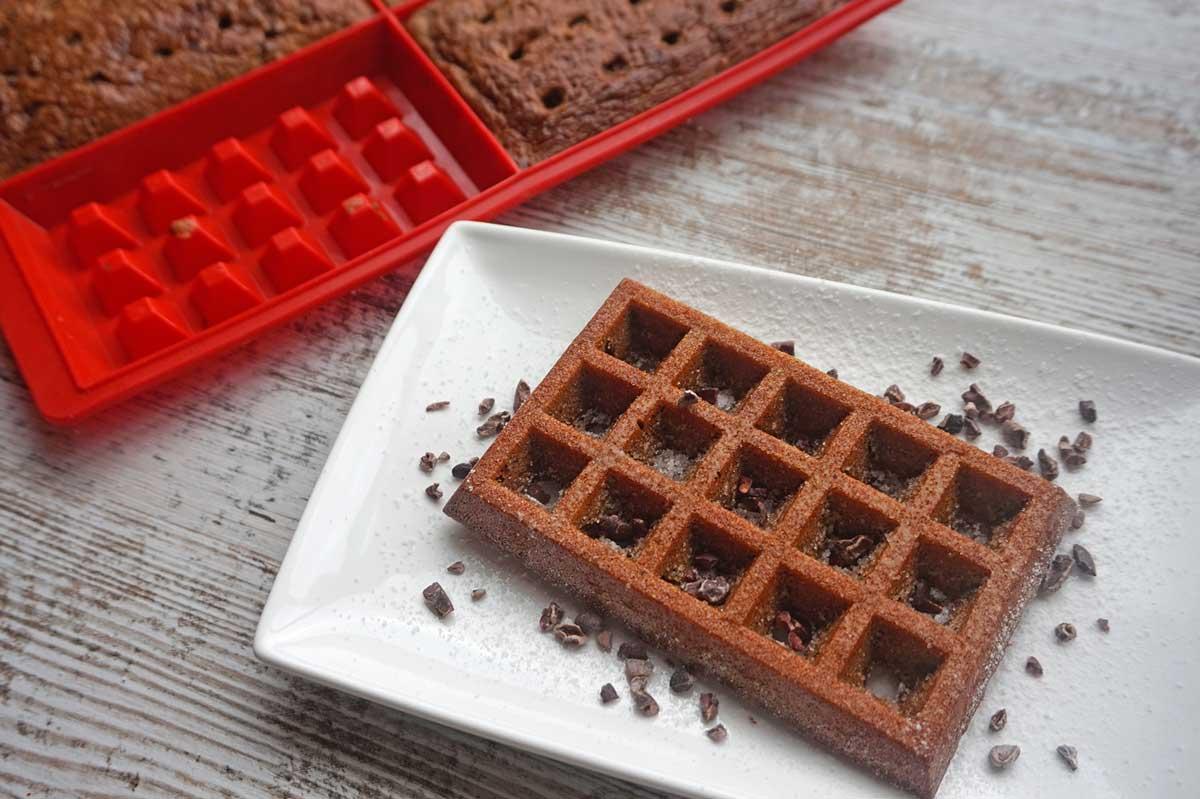 Desayunos saludables dulces - Gofres de arroz y nueces